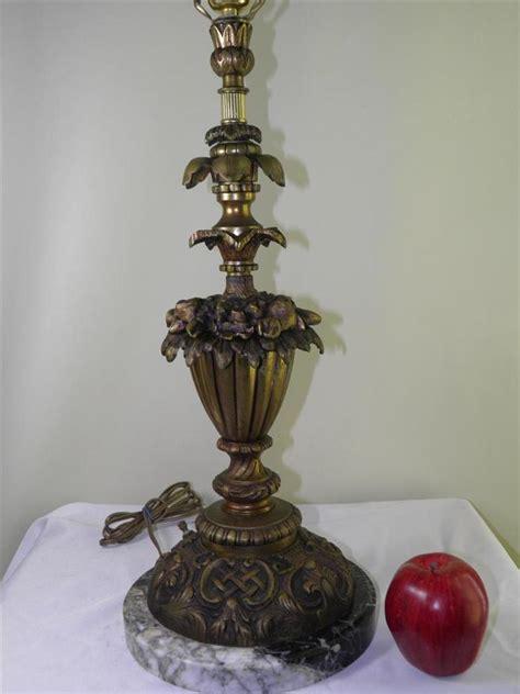 antique bronze table l antique ornate bronze marble urn floral table banquet lamp