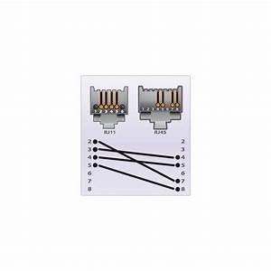 Rj45 To Rj11 Wiring Conversion Diagram
