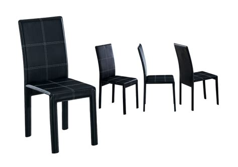 chaise cuir noir chaise de cuisine cuir noir