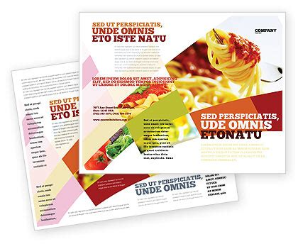 Food Brochure Templates by Italian Food Brochure Template Design And Layout