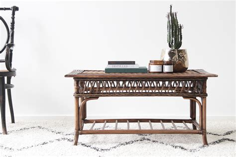 vintage verandah table ls coffee table naturally rattan and wicker 6877