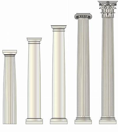 Columns Architectural Column Tuscan Roman Wood Architecture