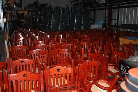 thousands of used restaurant chairs and bar stools now