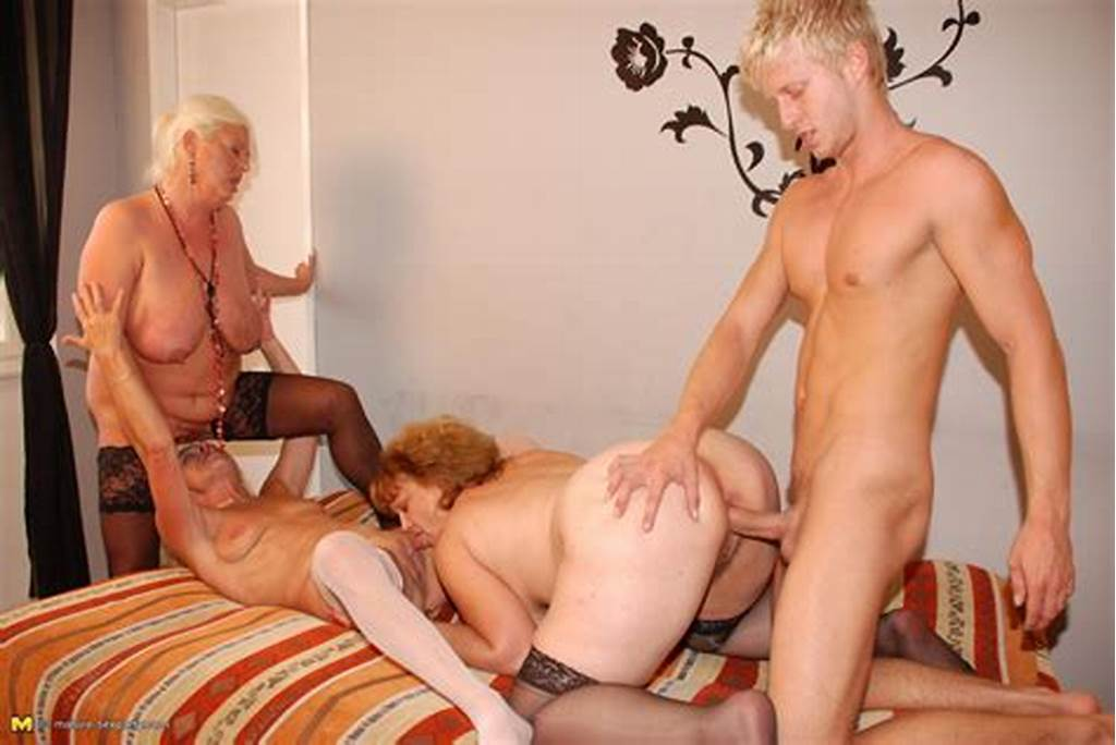 #One #Lucky #Dude #Doing #Three #Mature #Sluts #At #Once