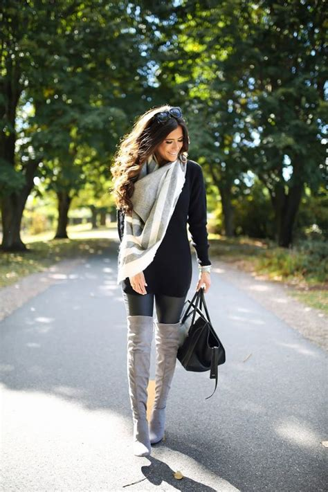 Dress black Faux leather leggings and Boots on Pinterest