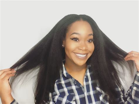 Mongolian Kinky Straight Hair Sew In Install