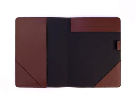parure bureau cuir conférencier a4 en cuir marron bloc note a4