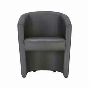 Fauteuil Gris Conforama : cabriolet mino coloris noir en pu vente de tous les fauteuils conforama ~ Teatrodelosmanantiales.com Idées de Décoration