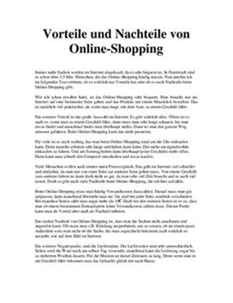 eroerterung ueber  shopping schulhilfede
