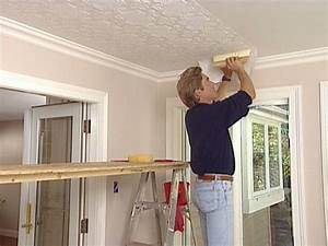 How to Apply an Embossed Wallpaper Ceiling Treatment ...