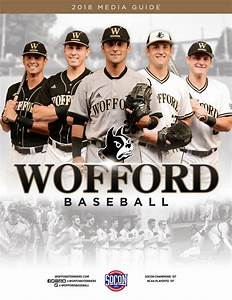 2018 Wofford Baseball Media Guide by Wofford Athletics - Issuu