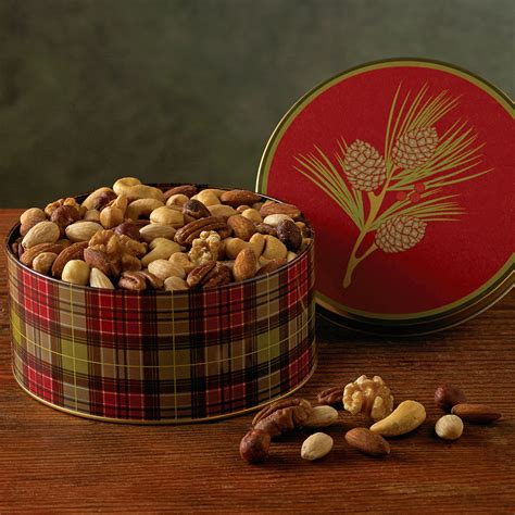 holiday mixed nuts gift tin gourmet nut gifts harry david
