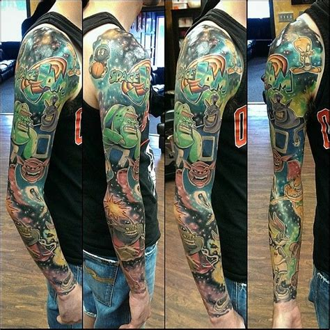 space jam full sleeve tattoo danny black lotus severn