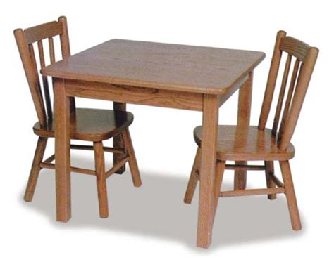 child s table and poster chairs amish furniture for