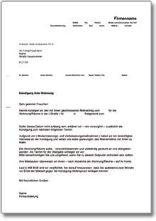 kündigung mietvertrag musterbrief dehoga shop k 252 ndigung mietvertrag fristgem 228 223 vermieter kaufen