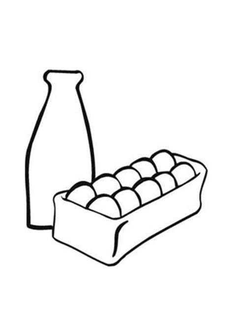 ausmalbild eier und milch kostenlos ausdrucken