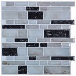 Stick On Backsplash For Kitchen Peel N Stick Kitchen Backsplash Tiles Brick Pattern Wall Stickers 12 X 12 In