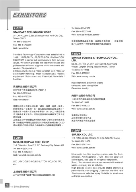 http gogofinder com tw books pida 2 2013 display 台灣平面顯示器展 參展名錄