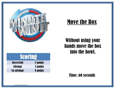 We'll do all the design work for you to make your experience hassle free. Minute to Win it Games - Free printables