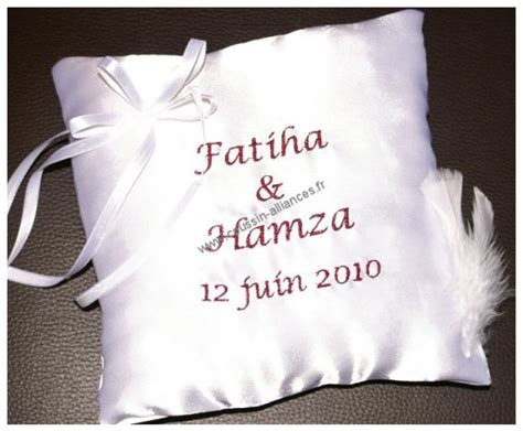 coussin alliance mariage personnalise coussin mariage alliances personnalis 233 coussin mariage