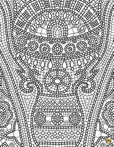 petits carreaux est un coloriage pour adultes a imprimer With dessin avec carreaux