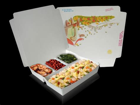 pack cuisine microwavable 650cc disposable paper lunch box with 4