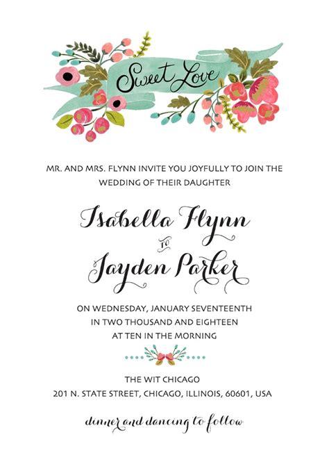 print audrey  printable wedding invites