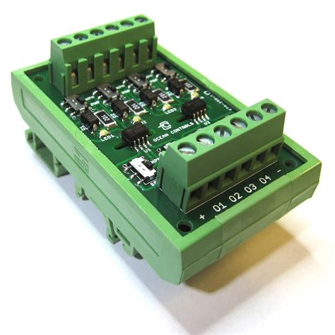 channel opto isolator  din rail mount electronics