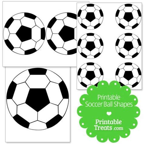printable soccer ball shapes printable treats meal