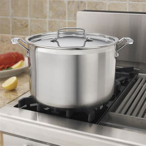 cuisinart multiclad pro stainless steel stock pot  quart cutlery