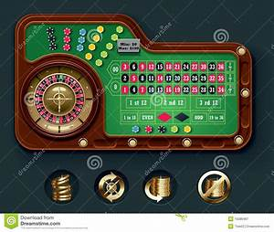 Vector American Roulette Table Layout Stock Vector