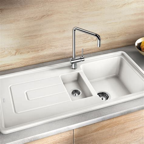 clay sinks kitchen blanco tolon 6 s ceramic inset kitchen sink sinks taps 7202