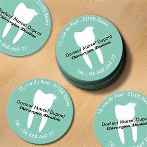 Carte De Visite Original : carte de visite ronde originale pour chirurgien dentiste ~ Melissatoandfro.com Idées de Décoration