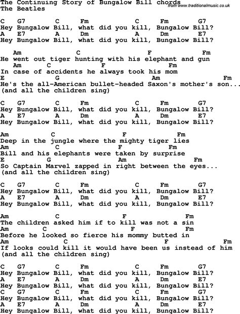Song Lyrics With Guitar Chords For Continuing Story Of