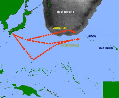 Battle of Midway Island Map