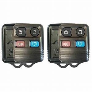 2 New Replacement For 1999-2014 Ford Mustang Keyless Remote Shell Key 4 Button - Walmart.com ...