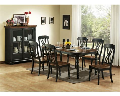casual country black dining table chairs dining room
