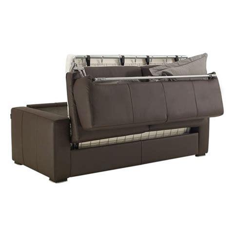 canapé lit en cuir canapé convertible en cuir matelas 14 cm petit prix
