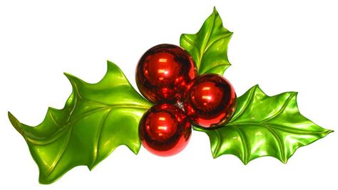 fiberglass holly leaves  berries commercial christmas