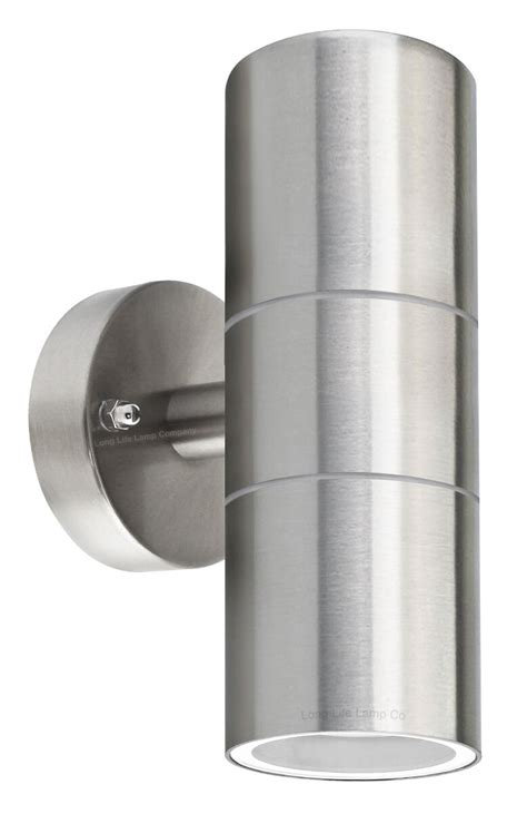 double wall light zlc03 stainless steel up down wall light gu10 ip65 double outdoor wall light zlc03 5060233374496 ebay