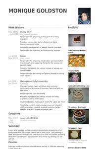 Pastry chef resume samples visualcv resume samples database for Chef portfolio template