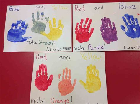 paint color mixing chart preschool each a different primary learn s with stacking songs