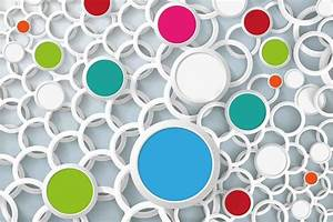 Overlapping Circles 3d Wallpaper. Walls and Murals