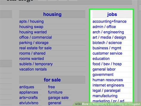 Craigslist Resume Search by How To Respond To A Listing On Craigslist 11 Steps