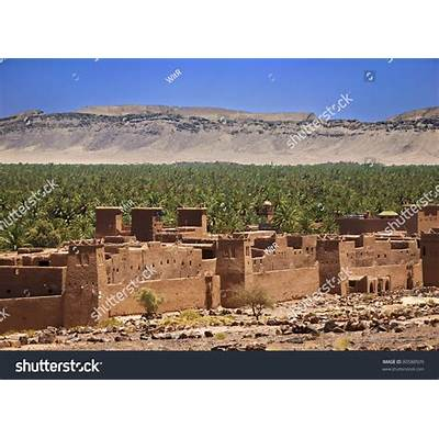 Morocco. Draa Valley. Kasbah Tissergat At Ouarzazate