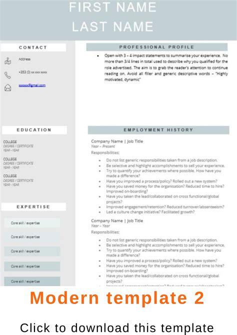 recruiters cv templates