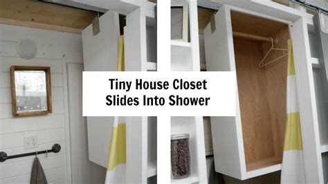 tiny house closet tiny house closet slides from shower to toilet