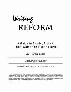 Writing Reform  A Guide To Drafting State  U0026 Local Campaign