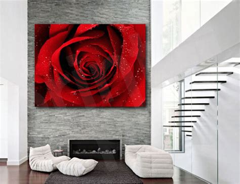 3pcs Colorful Flower Canvas Abstract Painting Print Art: Red Rose Flower Canvas Art Poster Print Home Wall Decor