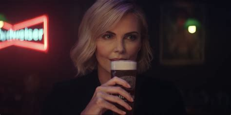charlize theron  budweisers  reserve copper commercial
